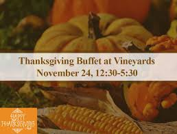 thanksgiving dinner buffet vineyards country club naples