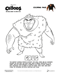 coloring pages games the croods coloring sheets games at pages eson me