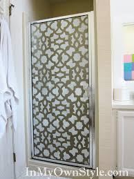 how to stencil shower doors with a cutting edge stencil in my