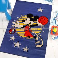 Mickey Mouse Flag Mickey Mouse Basketbol çocuk Halısı Kids Mavi 994 Halistores Com