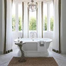 white curtains taupe trim design ideas