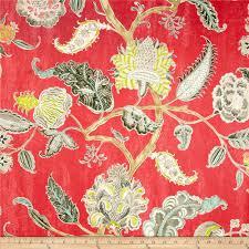 Waverly Upholstery Fabric Waverly Asian Myth Twill Radish Discount Designer Fabric
