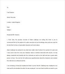 character reference letter samples best business template