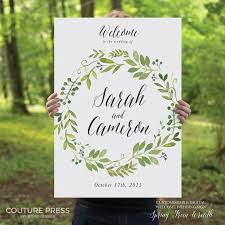 wedding welcome sign template printable wedding welcome sign watercolor rustic whimsical diy