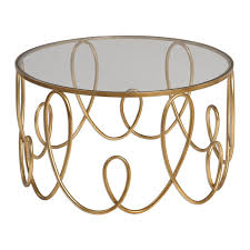 uttermost 24620 brielle gold coffee table homeclick com