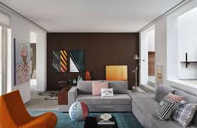 awesome two tone brown paint colors for house interior with