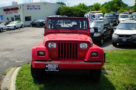 beach jeep wrangler 1991 jeep wrangler renegade red 4x4 sale