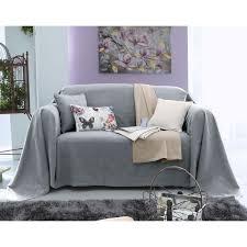 plaid gris pour canapé boutis plaid ou jeté de canapé piqué de coton becquet gris perle