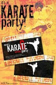 karate party birthday invitation printable by cardsbycarolyn