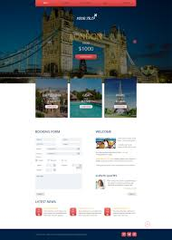free responsive html5 theme for travel agency