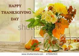 happy thanksgiving day beautiful autumn bouquet stock photo