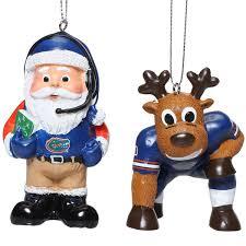florida gators reindeer santa 2 pack ornament set sec store