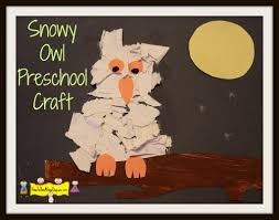 snowy owl preschool craft how to run a home daycare