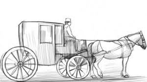 how to draw a carriage youtube