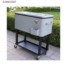 cooler cart patio rolling wheels wheeled ice chest outdoor bar
