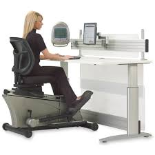 the elliptical machine office desk hammacher schlemmer