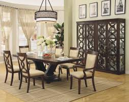 classic modern dining room design with rectangle wood black