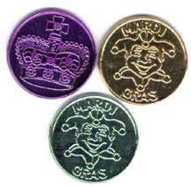 mardi gras deblume beadsale 36 mardi gras coins doubloons plastic