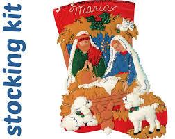 bucilla felt kits nativity personalized kit vintage bucilla felt