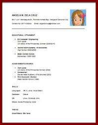 Example Of Simple Resume by 15 Example Of Simple Curriculum Vitae Sendletters Info