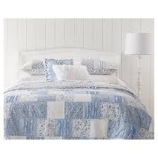 indigo bohemian patchwork quilted sham standard simply shabby