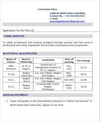 Sample Resume For Mba Freshers by Sample Resume Format For Mba Hr Fresher Speakspowers Tk