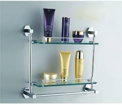 Bathroom Glass Shelves With Towel Bar Glass Shelf Towel Bars With Bar Chrome Foodsciencebites