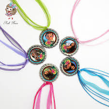 jewelry party favors moana necklace bottle cap necklaces pendants glass cabochon