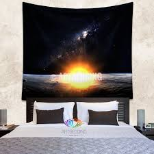 wall murals wall tapestries canvas wall art wall decor tagged galaxy tapestry sunrise over earth wall tapestry space tapestry wall hanging galaxy home decor earth wall art print