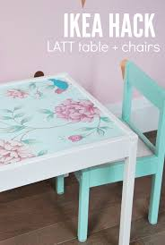 ikea hack latt table and chairs for kids floral wallpapers diy