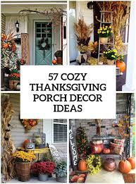 Outdoor Decoration by 57 Cozy Thanksgiving Porch Décor Ideas Digsdigs
