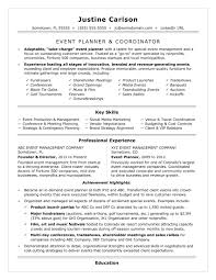 how to be a party planner event coordinator resume sle