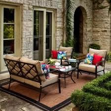 allen roth piedmont 4 piece patio conversation set furniture