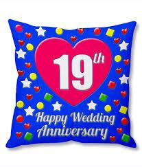 19th wedding anniversary gift photogiftsindia 19th wedding anniversary cushion cover buy
