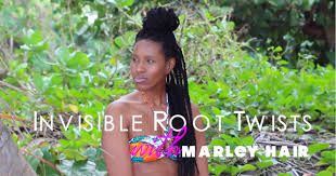 twist using marley hair how to invisible root twists using marley hair tip for secured