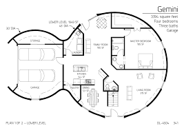 earth sheltered house plans earth contact home floor plans