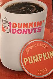 dunkin donuts k cups pumpkin flavor box of 12 kcups for use in