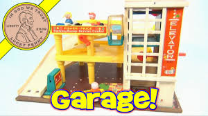 Fisher Price Toy Box Vintage 1970 Fisher Price Little People Action Garage Toy Set 930