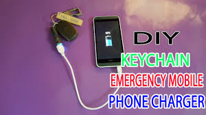 diy phone charger diy an keychain emergency mobile phone charger supper mini power