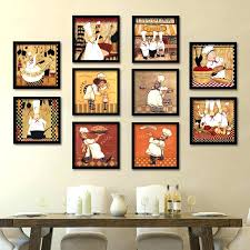 Skillful Ideas Chef Wall Decor Also Bistro Square Wooden Framed