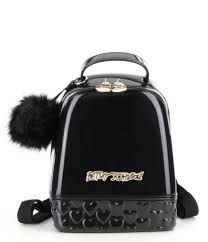 betsey johnson don t be jelly mini backpack in black lyst