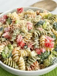 salad pasta ranch pasta salad together as family