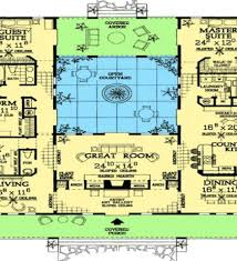 style house plans with courtyard mar floor plans in addition hacienda style house plans with