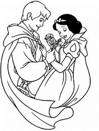 disney princess snow white with prince ferdinand coloring pages