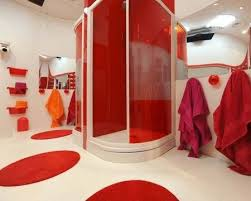 Red Bathroom Designs Colors 77 Best Red Bathrooms Images On Pinterest Red Bathrooms