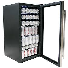beverage cooler with glass door whynter br 125sd stainless steel beverage refrigerator walmart com
