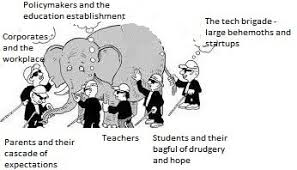 The Blind Men And The Elephant Six Blind Men And The Elephant Of Education Rohit Pande Pulse