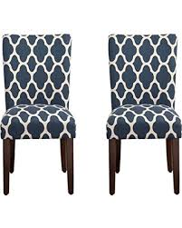 Navy Upholstered Dining Chair Big Deal On Kinfine Parsons Upholstered Accent Dining Chair Set