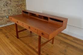 Mid Century Modern Desk Lovig Nielsen Teak Flip Top Desk Galaxiemodern