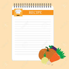 fiche recette cuisine fiche recette cuisine note vide modèle illustration cuisine bloc